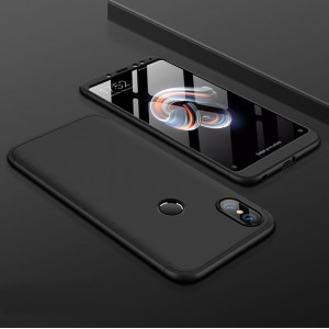 Пластиковый непрозрачный матовый чехол сборного типа для Xiaomi RedMi Note 5/5 Pro Черный