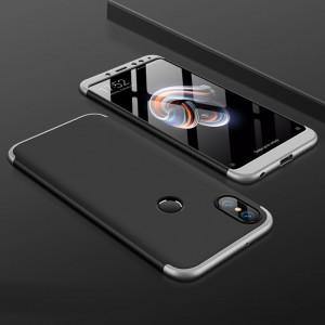 Пластиковый непрозрачный матовый чехол сборного типа для Xiaomi RedMi Note 5/5 Pro Серый