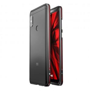 Металлический округлый бампер сборного типа на винтах для Xiaomi RedMi Note 5/5 Pro Красный