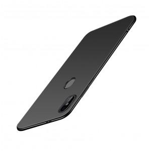 Силиконовый матовый непрозрачный чехол для Xiaomi RedMi Note 5/5 Pro Черный