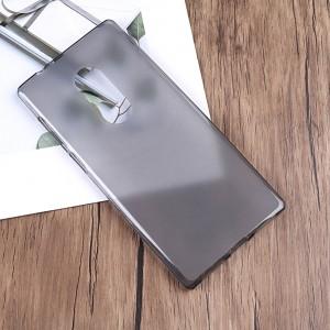 Силиконовый матовый полупрозрачный чехол для Alcatel 5 Серый