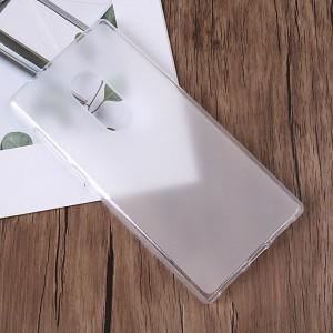 Силиконовый матовый полупрозрачный чехол для Alcatel 5 Белый