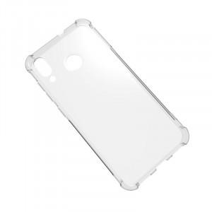 Силиконовый глянцевый транспарентный чехол с усиленными углами для ASUS ZenFone Max M1 ZB555KL Серый