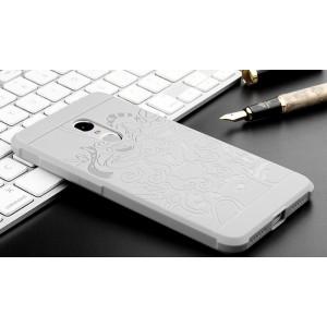 Силиконовый матовый непрозрачный чехол с текстурным покрытием Дракон для Xiaomi RedMi Note 4X
