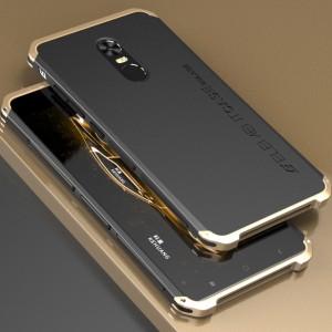 Ударостойкий нескользящий чехол алюминиево-цинковый сплав/силиконовый полимер на винтах для Xiaomi RedMi Note 4X