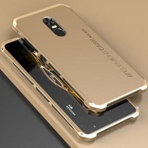 Ударостойкий нескользящий чехол алюминиево-цинковый сплав/силиконовый полимер для Xiaomi RedMi Note 4X