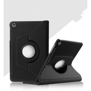 Роторный чехол книжка подставка на непрозрачной поликарбонатной основе с поддержкой кисти для Huawei MediaPad M5 10.8 Черный