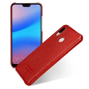 Кожаный чехол накладка (премиум нат. кожа) для Huawei P20 Lite