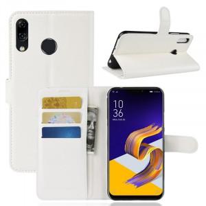 Чехол портмоне подставка на силиконовой основе с отсеком для карт на магнитной защелке для ASUS ZenFone 5 ZE620KL/5Z Белый