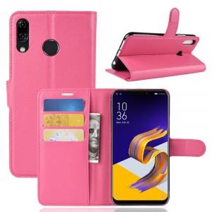Чехол портмоне подставка на силиконовой основе с отсеком для карт на магнитной защелке для ASUS ZenFone 5 ZE620KL/5Z Пурпурный