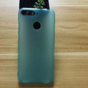 Силиконовый матовый полупрозрачный чехол для Huawei Honor 7A Pro/7C/Y6 Prime (2018) Голубой