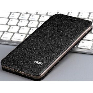 Чехол горизонтальная книжка подставка текстура Соты на силиконовой основе для Huawei Honor 7A Pro/7C/Y6 Prime (2018) Черный