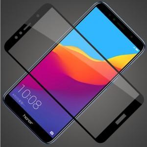 Полноэкранное ультратонкое износоустойчивое сколостойкое олеофобное защитное стекло-пленка для для Huawei Honor 7A Pro/7C/Y6 Prime (2018) Черный