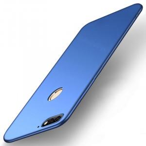 Силиконовый матовый непрозрачный чехол для Huawei Honor 7A Pro/7C/Y6 Prime (2018) Синий