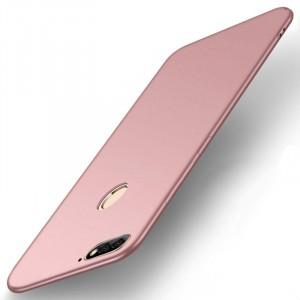 Силиконовый матовый непрозрачный чехол для Huawei Honor 7A Pro/7C/Y6 Prime (2018) Розовый
