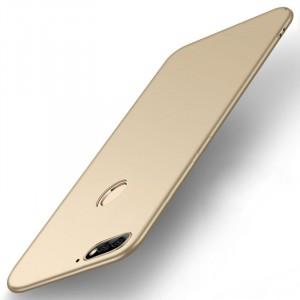 Силиконовый матовый непрозрачный чехол для Huawei Honor 7A Pro/7C/Y6 Prime (2018) Бежевый