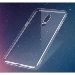 Силиконовый глянцевый транспарентный чехол для Meizu 15 Plus