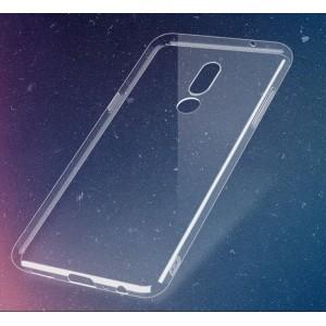 Силиконовый глянцевый транспарентный чехол для Meizu 15