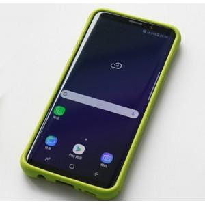 Силиконовый матовый непрозрачный чехол с нескользящими гранями и нескользящим софт-тач покрытием для Samsung Galaxy S9 Plus Зеленый