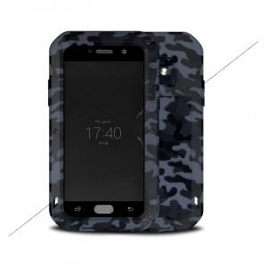 Эксклюзивный многомодульный ультрапротекторный пылевлагозащищенный ударостойкий нескользящий чехол алюминиево-цинковый сплав/силиконовый полимер для Samsung Galaxy A5 (2017)