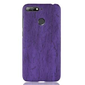 Пластиковый непрозрачный матовый чехол с текстурным покрытием Дерево для Huawei Honor 7A Pro/7C/Y6 Prime (2018) Фиолетовый
