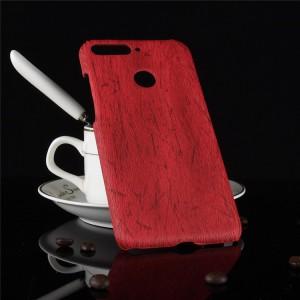 Пластиковый непрозрачный матовый чехол с текстурным покрытием Дерево для Huawei Honor 7A Pro/7C/Y6 Prime (2018) Красный