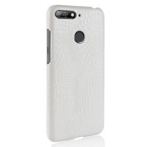 Чехол накладка текстурная отделка Кожа крокодила для Huawei Honor 7A Pro/7C/Y6 Prime (2018) Белый