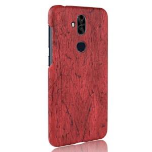 Пластиковый непрозрачный матовый чехол с текстурным покрытием Дерево для ASUS ZenFone 5 Lite Красный