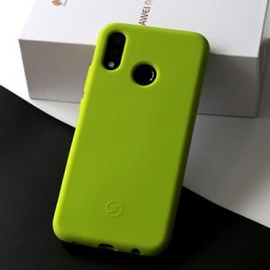 Силиконовый матовый непрозрачный чехол с нескользящими гранями и нескользящим софт-тач покрытием для Huawei P20 Lite