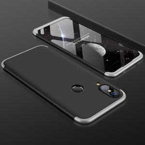 Пластиковый непрозрачный матовый чехол сборного типа с улучшенной защитой элементов корпуса для Huawei P20 Lite
