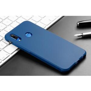 Силиконовый матовый непрозрачный чехол для Huawei P20 Lite