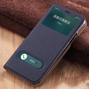Чехол горизонтальная книжка подставка на силиконовой основе с окном вызова и полоcой свайпа для Huawei P20 Lite