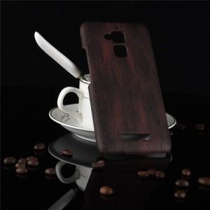 Пластиковый непрозрачный матовый чехол с текстурным покрытием Дерево для Asus ZenFone 3 Max Коричневый