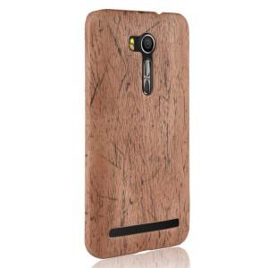 Пластиковый непрозрачный матовый чехол с текстурным покрытием Дерево для ASUS Zenfone Go 5.5
