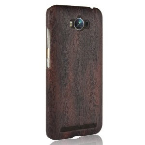 Пластиковый непрозрачный матовый чехол с текстурным покрытием Дерево для ASUS ZenFone Max