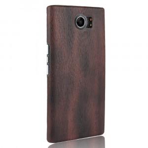 Пластиковый непрозрачный матовый чехол с текстурным покрытием Дерево для Blackberry Priv