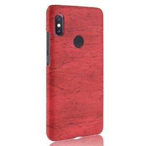 Пластиковый непрозрачный матовый чехол с текстурным покрытием Дерево для Xiaomi RedMi Note 5/5 Pro Красный
