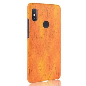 Пластиковый непрозрачный матовый чехол с текстурным покрытием Дерево для Xiaomi RedMi Note 5/5 Pro Оранжевый