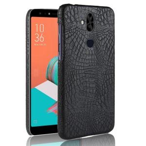 Чехол накладка текстурная отделка Кожа для ASUS ZenFone 5 Lite  Черный
