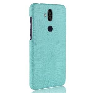 Чехол накладка текстурная отделка Кожа для ASUS ZenFone 5 Lite  Голубой