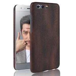 Пластиковый непрозрачный матовый чехол с текстурным покрытием Дерево для Huawei Honor 9  Коричневый