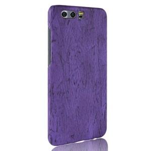 Пластиковый непрозрачный матовый чехол с текстурным покрытием Дерево для Huawei Honor 9  Фиолетовый