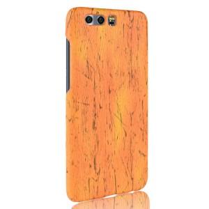 Пластиковый непрозрачный матовый чехол с текстурным покрытием Дерево для Huawei Honor 9  Оранжевый