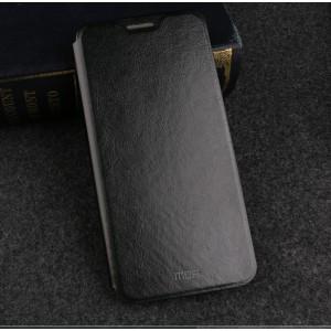 Глянцевый водоотталкивающий чехол горизонтальная книжка подставка на силиконовой основе для Huawei Honor 7A Pro/7C/Y6 Prime (2018) Черный