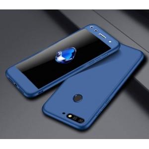 Пластиковый непрозрачный матовый чехол сборного типа для Huawei Honor 7A Pro/7C/Y6 Prime (2018)