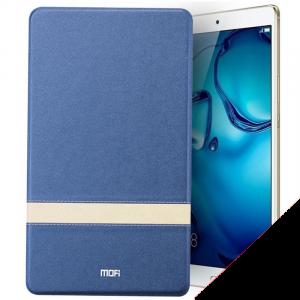 Чехол книжка подставка текстура Линии на транспарентной силиконовой основе для Huawei MediaPad M5 10.8