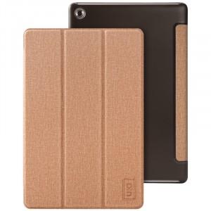 Чехол книжка подставка на полупрозрачной поликарбонатной основе с тканевым покрытием для Huawei MediaPad M5 10.8