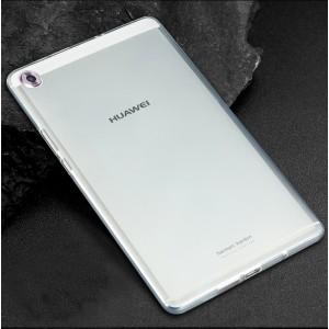 Силиконовый глянцевый транспарентный чехол для Huawei MediaPad M5 8.4