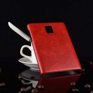 Чехол накладка текстурная отделка Кожа для Blackberry Passport  Красный