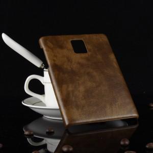 Чехол накладка текстурная отделка Кожа для Blackberry Passport  Коричневый
